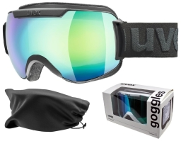 Gogle UVEX Downhill 2000 FM BLACK / GREEN MIRROR S3